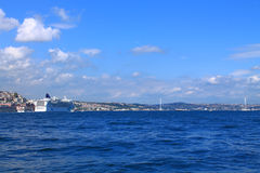 Landscape of Istanbul and the Bosporus Royalty Free Stock Photography