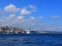 Landscape of Istanbul and the Bosporus Royalty Free Stock Photos