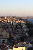 Landscape of Istanbul at sunset. Landscape of Istanbul from Galata at sunset in Turkey Stock Image