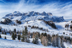 Landscape on the italian mountains Stock Photo