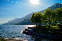 Landscape of Italy on Major Lake Stock Image