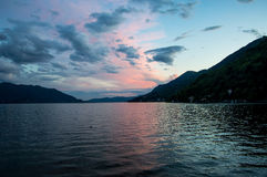 Landscape of Italy on Major Lake. Catched in Italy while easter was beginning Royalty Free Stock Photo