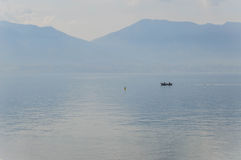Landscape of Italy on Major Lake. Catched in Italy while easter was beginning stock photo