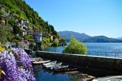 Landscape of Italy on Major Lake. Catched in Italy while easter was beginning Royalty Free Stock Photos