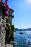 Landscape of Italy on Major Lake. Catched in Italy while easter was beginning stock image