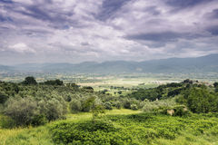 Landscape in Italy Marche Stock Photo