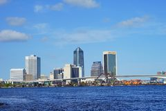 Jacksonville downtown and st johns river royalty free stock photos