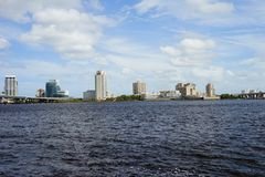 Jacksonville downtown and st johns river royalty free stock images