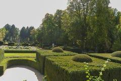 Landscape, Jardines de la Granja de San Ildefonso, monuments in Royalty Free Stock Photography