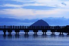 Landscape of a jetty Stock Photo