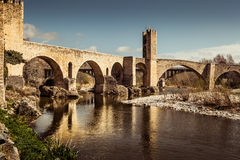 Besalu bridge Royalty Free Stock Photography