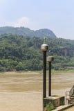 The landscape in jiajiang thousand buddha cliff,sichua,china Stock Image