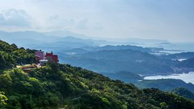 Landscape of jioufen village, taiwan stock image