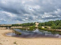 Landscape of Jockey`s Ridge State Park Royalty Free Stock Image