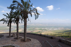 Jordan Valley and the Sea of Galilee. Landscape of Jordan Valley and the Sea of Galilee Royalty Free Stock Photography