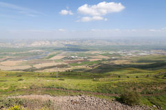 Jordan Valley and the Sea of Galilee. Landscape of Jordan Valley and the Sea of Galilee Stock Image