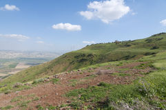 Jordan Valley and the Sea of Galilee. Landscape of Jordan Valley and the Sea of Galilee Royalty Free Stock Image