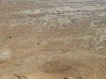 Landscape of the Judean Desert in the Middle East stock photography