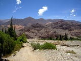 Landscape of Jujuy. Mountain landscape in the heights of Tilcara, Department of Jujuy, Argentina, South Ameria´ca Royalty Free Stock Image