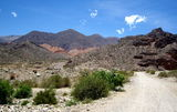 Landscape of Jujuy. Mountain landscape in the heights of Tilcara, Department of Jujuy, Argentina, South Ameria´ca Stock Photos