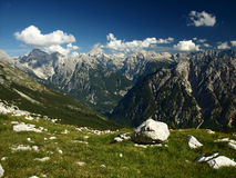 Landscape from Julian Alps, Slovenia. View on Jalovec from Sleme, Julian Alps, Slovenia Stock Images