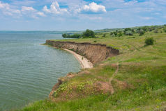 Landscape with Kakhovka Reservoir located on the Dnepr River, Ukraine Stock Images