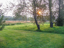 Landscape in the Kaluga region of Russia. Stock Photo