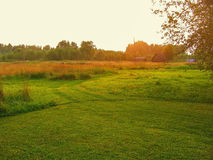 Landscape in the Kaluga region of Russia. Royalty Free Stock Photography