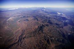 Landscape of Kamchatka. Aerial shot of volcanoes in Kamchatka Royalty Free Stock Photography