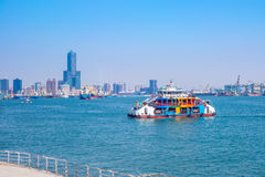 Landscape of kaohsiung harbor stock images