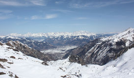Landscape from the Kaprun skiing resort. Royalty Free Stock Photo