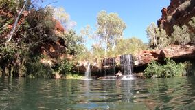 Landscape of karijini pilbara Western Australia