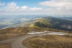 Landscape of the Karkonosze  Mountains Stock Image