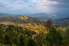 Landscape in the Kathmandu valley, Nepal Stock Photography