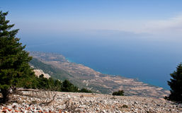 Landscape of Kefalonia Royalty Free Stock Images