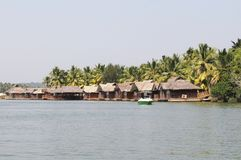 Landscape of Kerala Backwaters Stock Photo