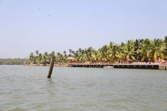 Landscape of Kerala Backwaters Royalty Free Stock Images