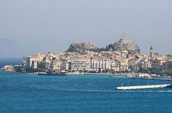 Landscape of Kerkira, Corfu Island Royalty Free Stock Photography