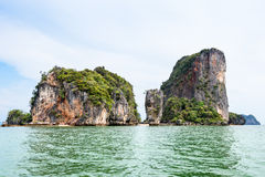 Landscape KhaoTapu or James Bond Island Stock Photos