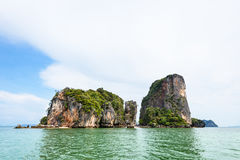 Landscape KhaoTapu or James Bond Island Royalty Free Stock Photography