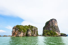 Landscape KhaoTapu or James Bond Island Royalty Free Stock Images