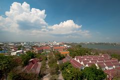 Landscape of Khonkaen province, Thailand Royalty Free Stock Photos