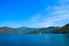 Landscape of Khun Dan Prakarnchon Dam Royalty Free Stock Photo