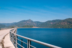 Landscape of Khun Dan Prakarnchon Dam Royalty Free Stock Photography