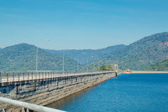 Landscape of Khun Dan Prakarnchon Dam Stock Image