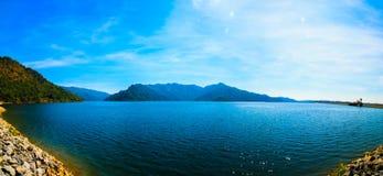 Landscape of Khun Dan Prakarnchon Dam Royalty Free Stock Image