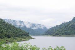 Landscape of Khundanprakanchon dam Royalty Free Stock Photography
