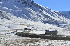 Landscape of Khunjerab pass. Royalty Free Stock Photos