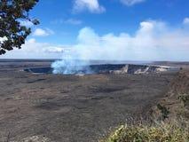 Landscape of Kilaeua. Panoramic view the Kilauea caldera and crater on the Big Ilsand of Hawaii Stock Photography