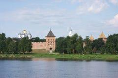landscape with a kind on Kremlin Stock Photos